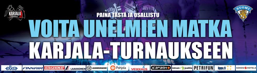 Voita unelmien matka Karjala-turnaukseen