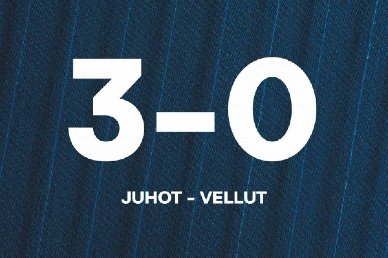 Pohjola-leirin maalikooste: Sijat 1–2 – Juhot–Vellut 3–0