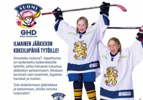 GHD lokakuussa - Tule kokeilemaan jääkiekkoa!