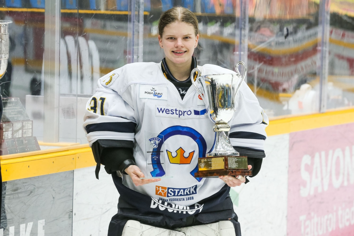 Playoffsien MVP Tiia Pajarinen.