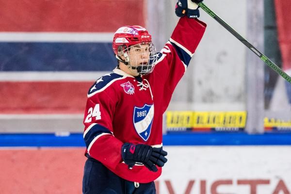 HIFK:n Aleksanteri Kaskimäki nimettiin U20 SM-sarjan syyskuun parhaaksi nuoreksi pelaajaksi